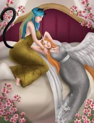 KatherinexAhsoka Honeymoon Wedding by DragonHero15