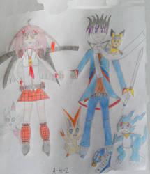 A-TO-Z! Older Zack Muto(u) and Amu Hinamori by DragonHero15
