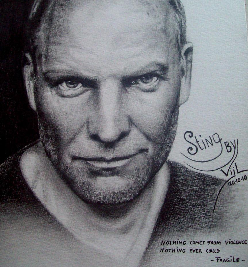 Sting pencildrawing by boy140495