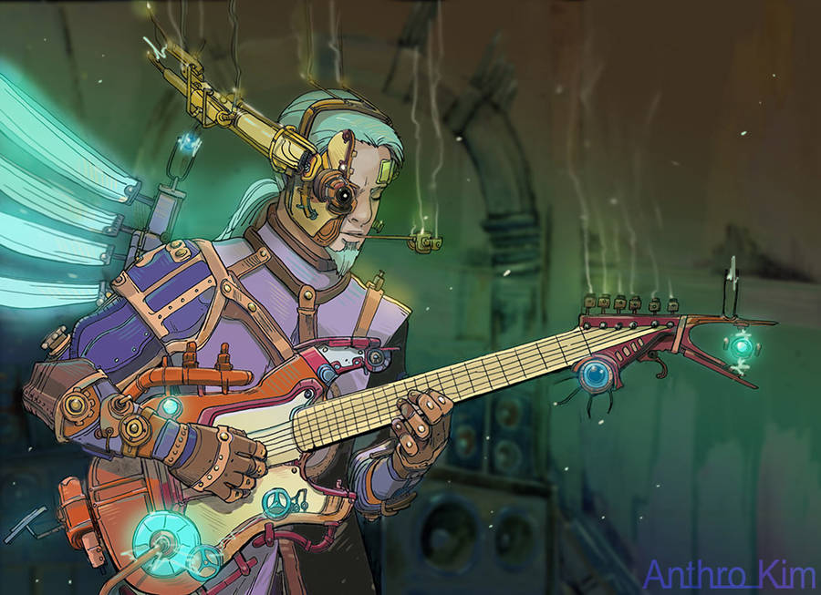 Steampunk Guitarist(Monsterologue project) by Anthrokim