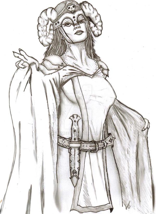 Evil Female Magic User by vonmeer