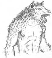 Hyenaman sketch or Wild Gnoll by vonmeer