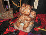 Copper Tsathoggua Idol