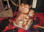 Copper Tsathoggua Idol