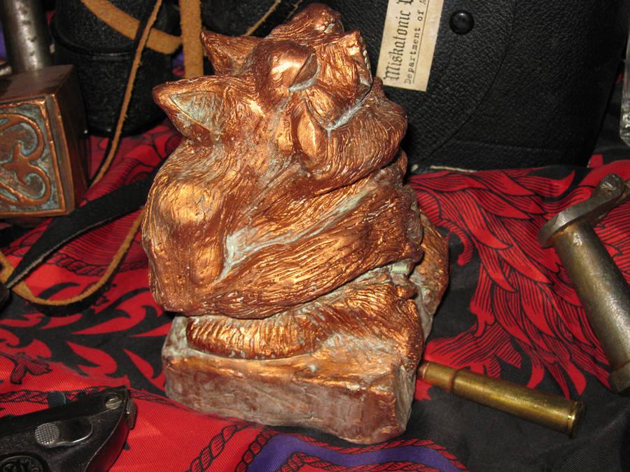 Copper Tsathoggua Idol II by vonmeer