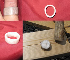 Stag Antler Pinky Ring by vonmeer