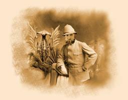 Explorer circa 1898, with strange stuffed plant by vonmeer
