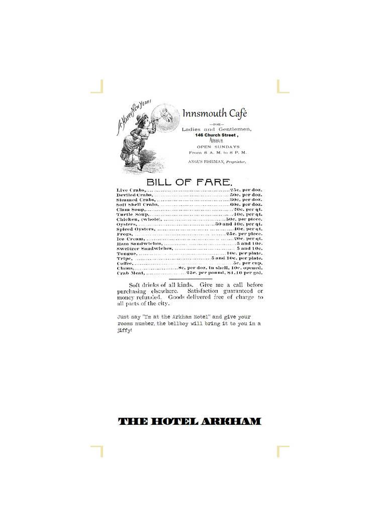 Hotel Arkham Calender Bookmark (back) by vonmeer