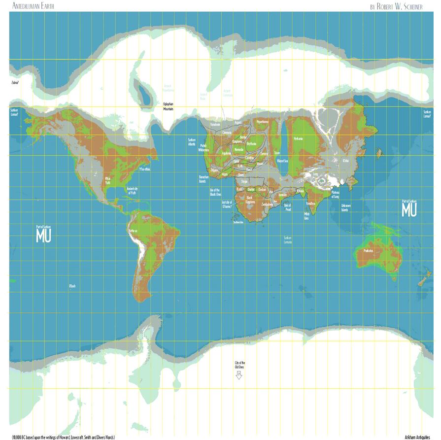Whole Wide World (Hyborian Era) 10000BC By Vonmeer On