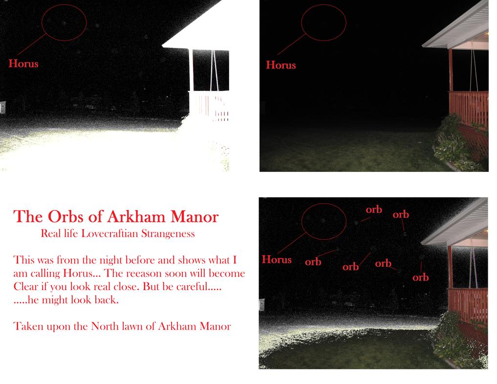 The Orbs of Arkham Manor /Horus Awakens by vonmeer