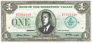 Play Money ($1) RPG/LARP /MISKATONIC VALLEY BILL