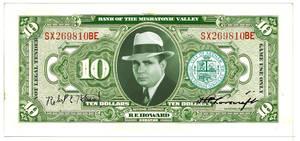 Play Money ($10) RPG/LARP /MISKATONIC VALLEY BILL