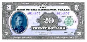 Play Money ($20) RPG/LARP /MISKATONIC VALLEY BILL