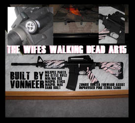 My wifes Zombie killing AR15 that I built