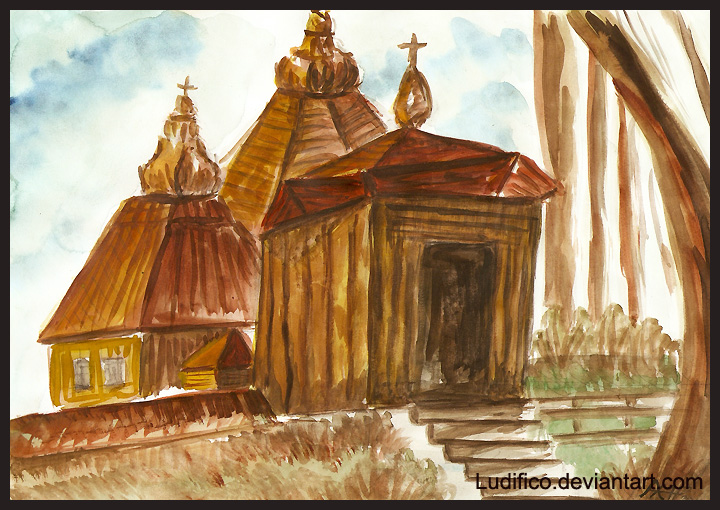 Wooden Church by Ludifico