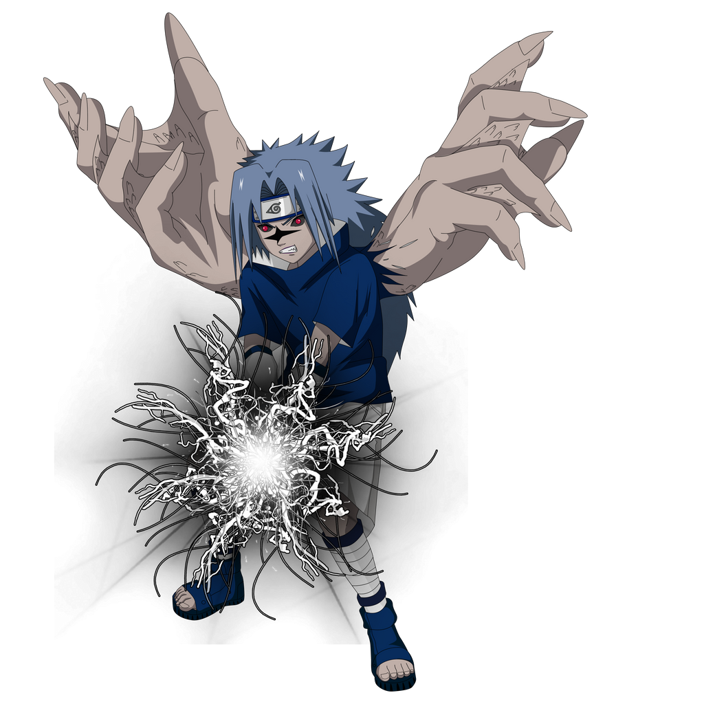 Sasuke Curse Seal 2 Render + chidori black by lwisf3rxd on ...