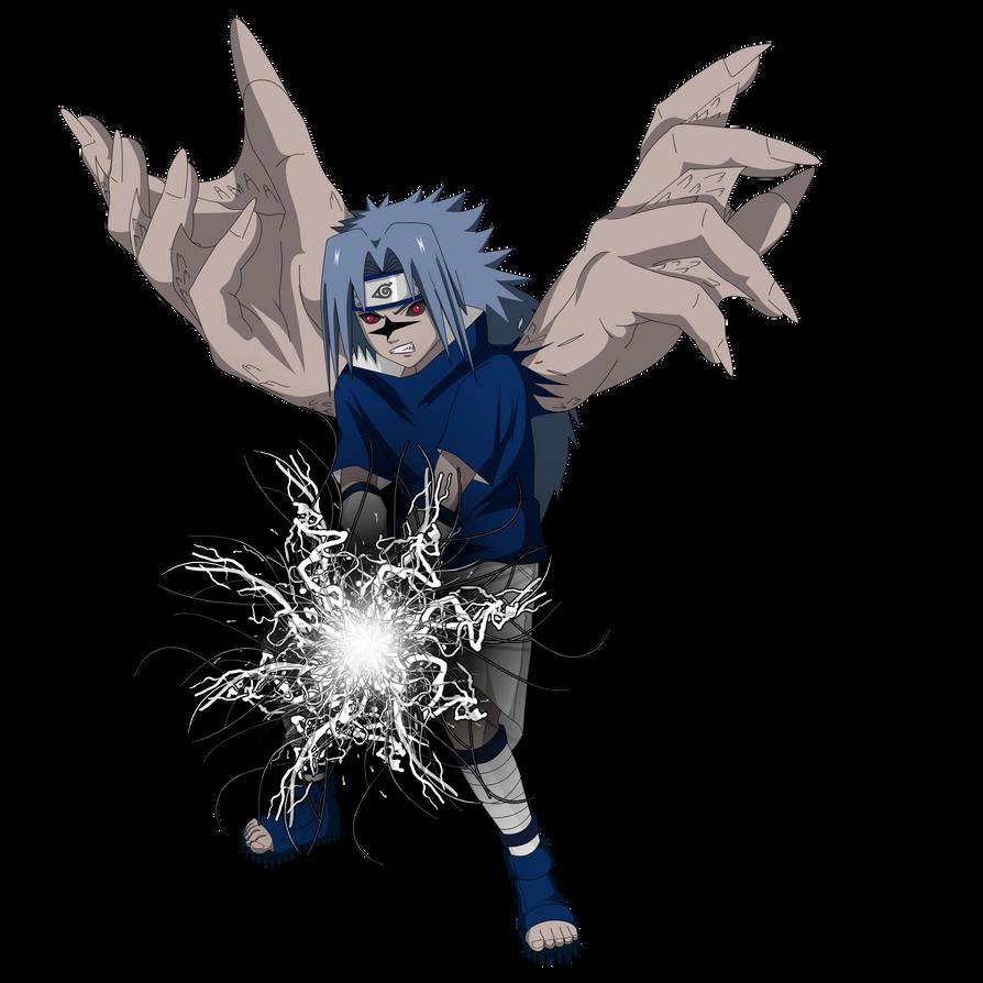 Sasuke Curse Seal 2 Render + chidori black by lwisf3rxd on ...