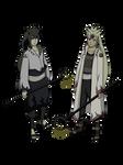 Naruto y Sasuke Rikudous Render
