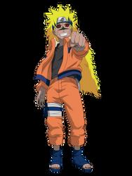 Naruto Curse Mode Render