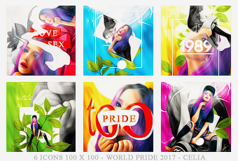 World pride icons by Celiuska