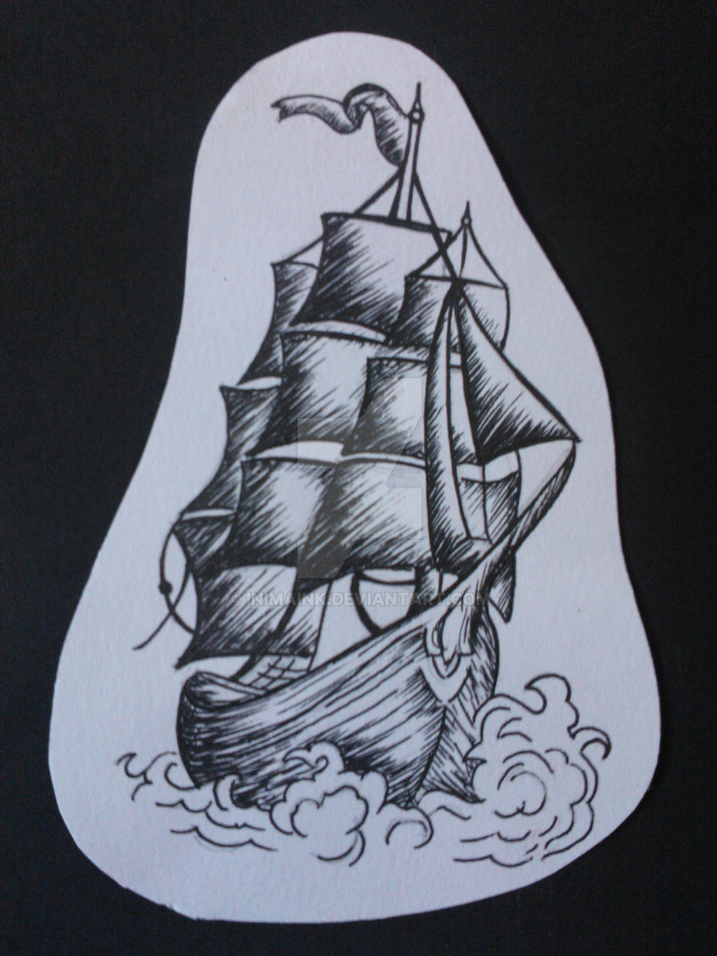 Traditional Ship Design by InimaInk on DeviantArt