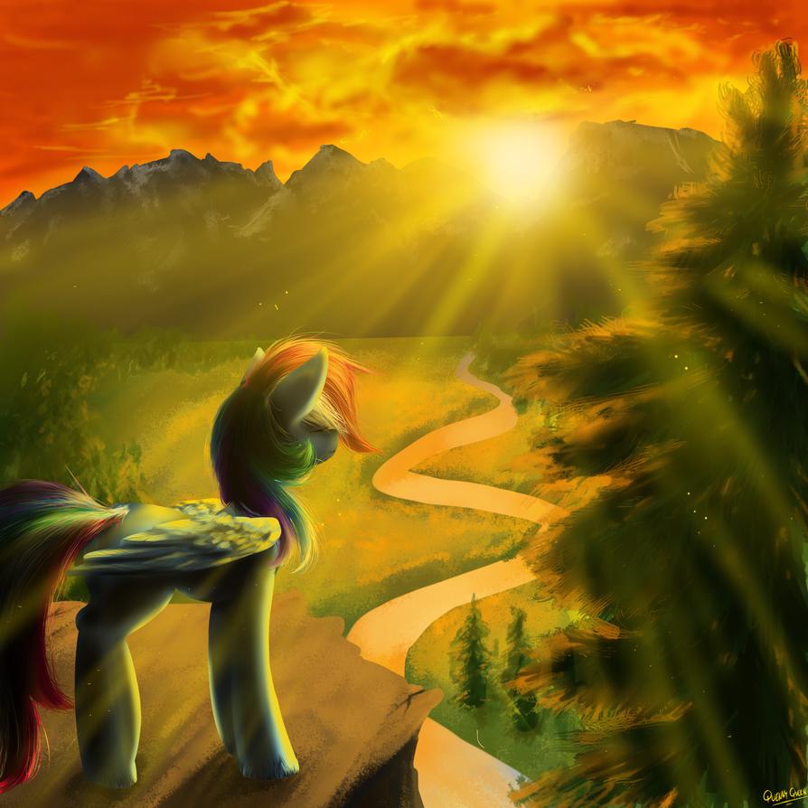 Rainbow Dash by QuennyQueen