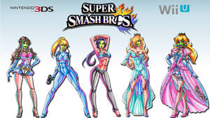 She Masked Beauties of Smash Bros. Wallpaper