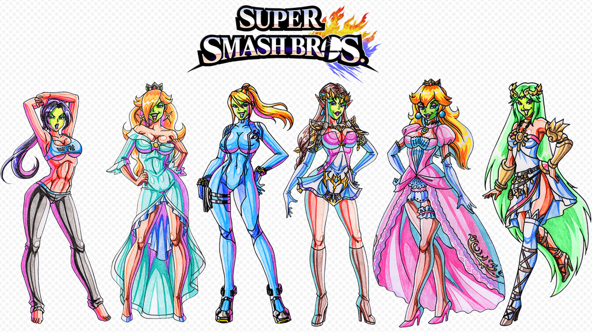 She masked beauties of super smash bros wallpaper by yoshi9288 on