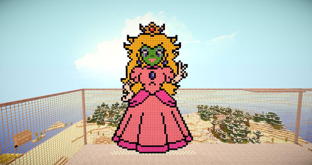 She Masked Princess Peach Minecraft Pixelart By Yoshi9288 On
