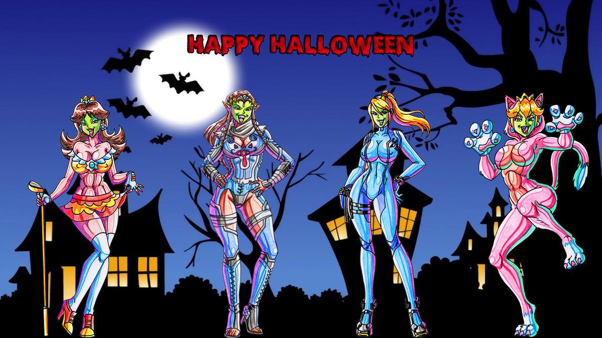 Best Wallpaper Halloween Zelda - happy_halloween_2014_wallpaper_by_yoshi9288-d84to80  Image_954173.png