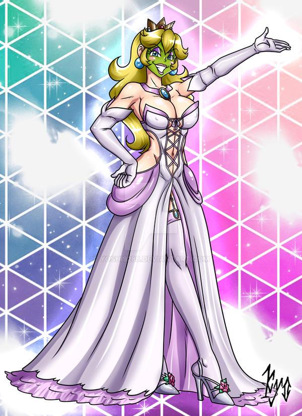 She Masked Princess Peach - Wedding Dress V1 by Yoshi9288 on DeviantArt