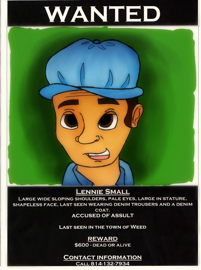 lennie smalls A secondary school revision resource for gcse english literature about the characters in john steinbeck's of mice and men.