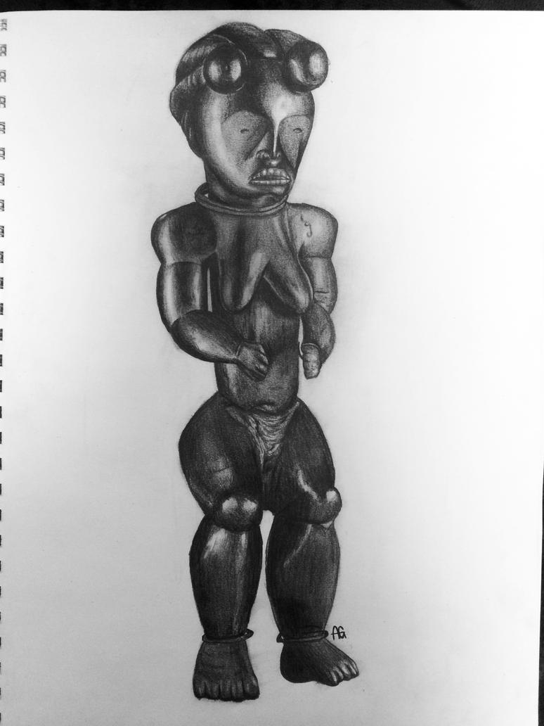 African sculpture by ANDILION5356