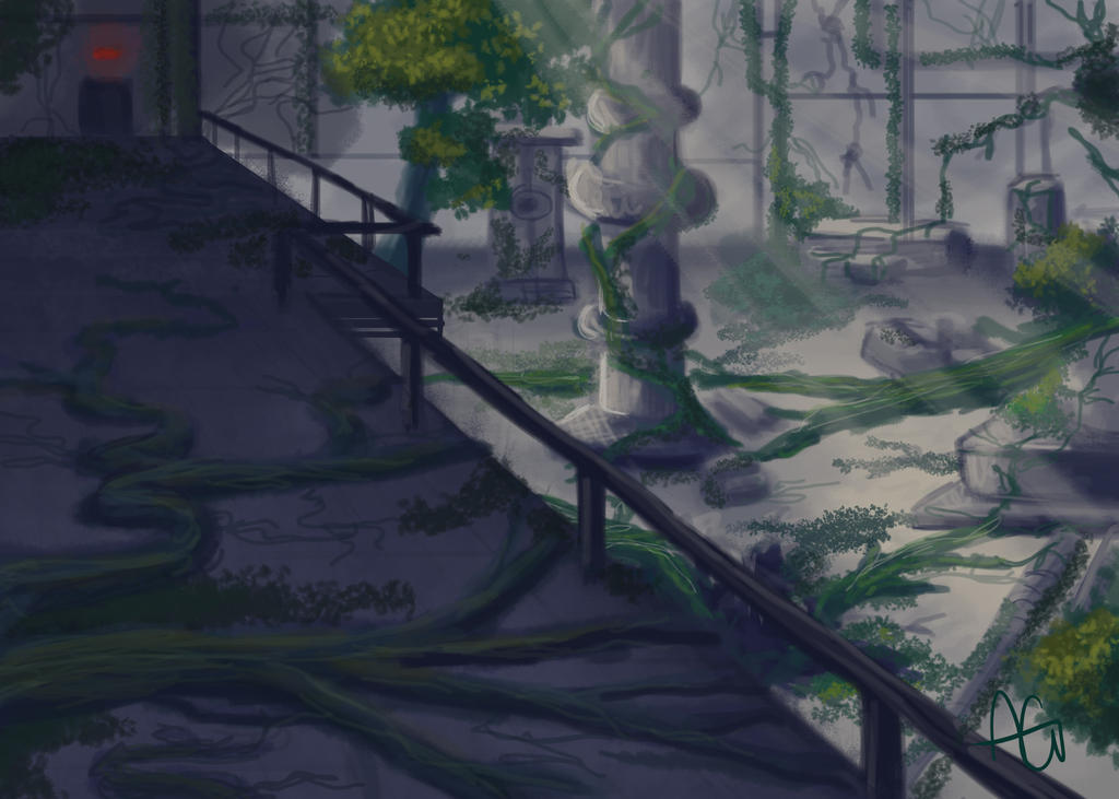 Speed Paint - Overgrown Facility by ANDILION5356
