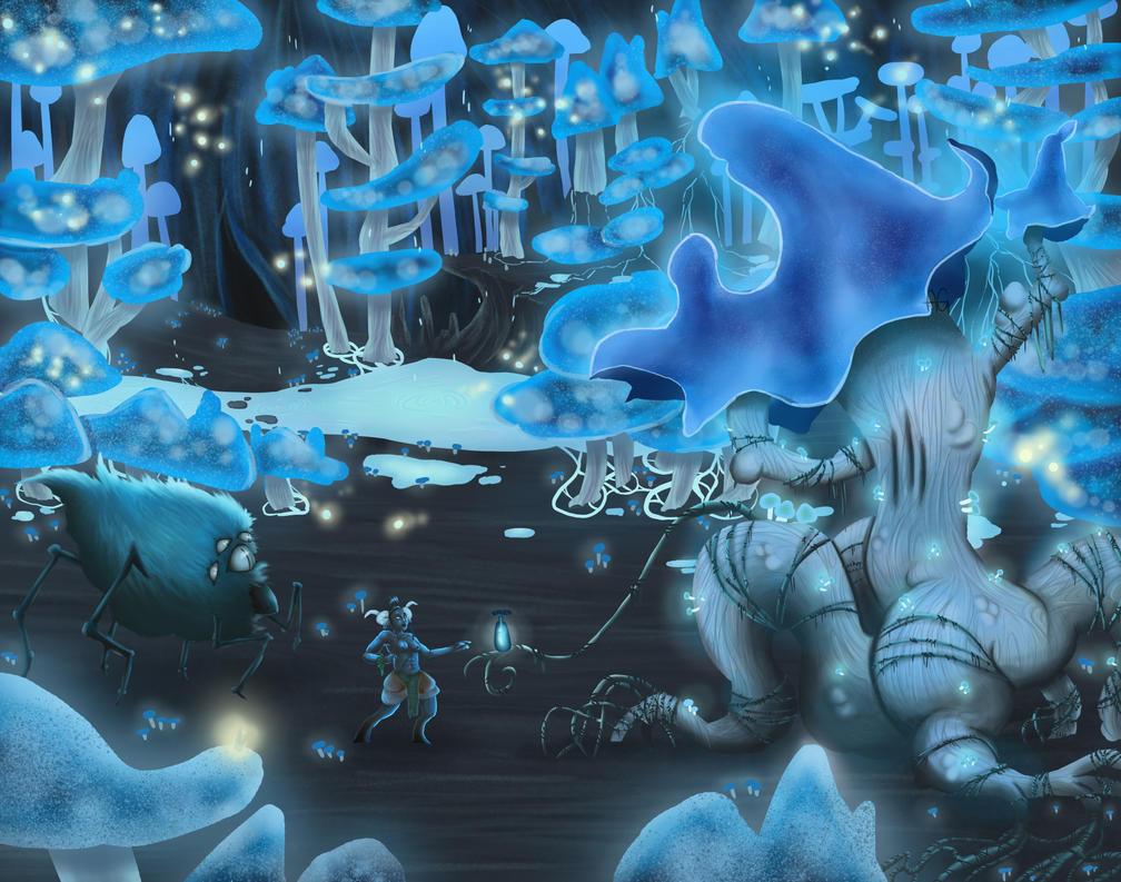 mushroom cave by ANDILION5356