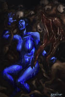 Cortana And The Gravemind by aauditor