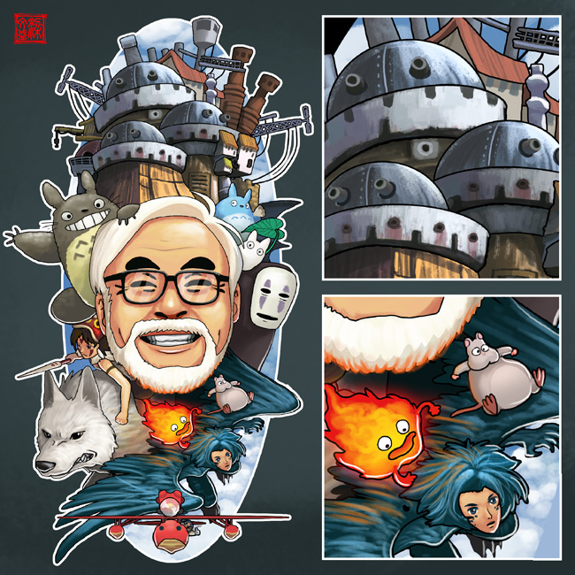 Ghibli Tribute by Wenart