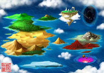 World Map by Wenart