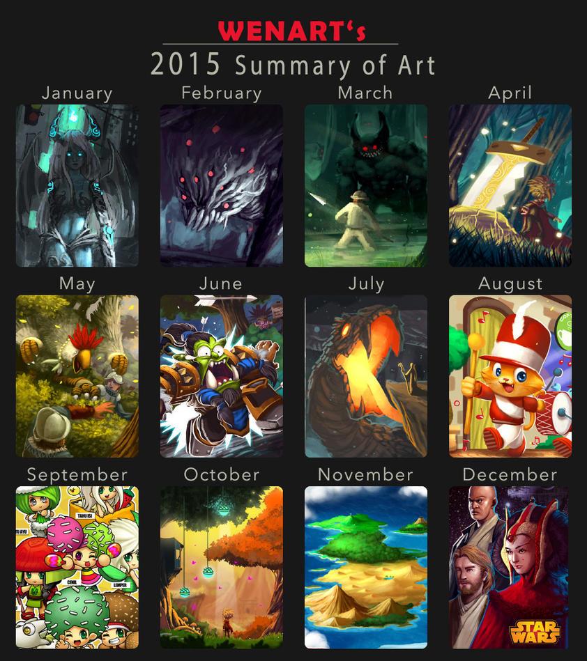 2015 Summary of Art by Wenart