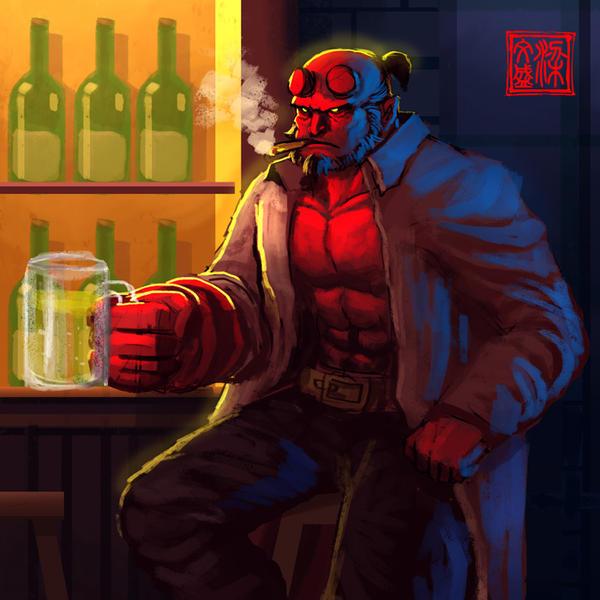 Hellboy by Wenart