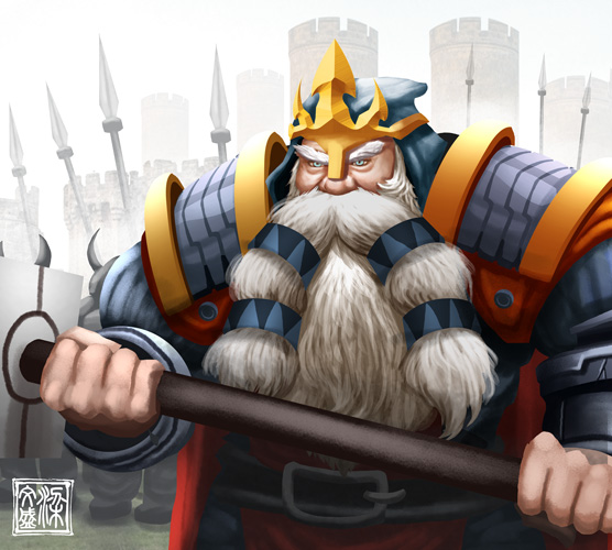 Dwarf King by Wenart