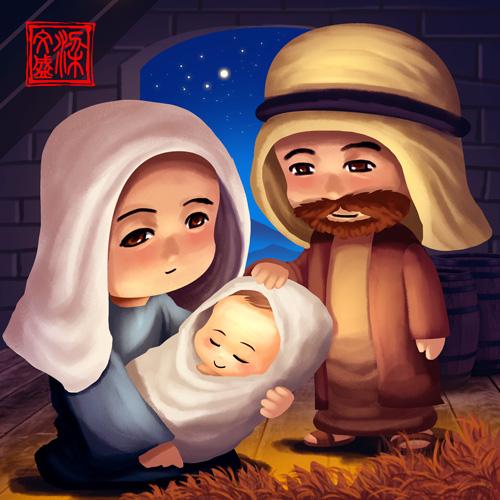 Born of Jesus by Wenart