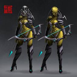 female Yautja character sheet by Wenart