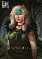 old viking warrior woman by Wenart