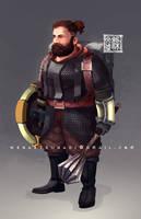 Dwarven battle priest by Wenart