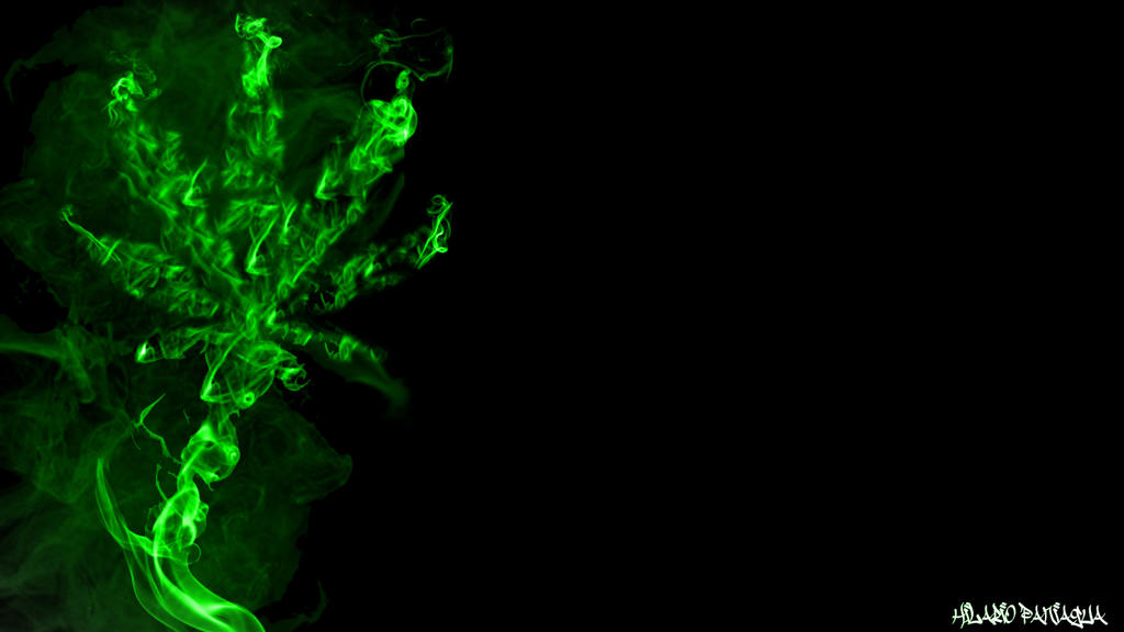 Green Weed Leaf Smoke Wallpaper 1366x768 by god1sdead on ...