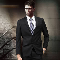 Dante in a formal suit by AnchenceTo