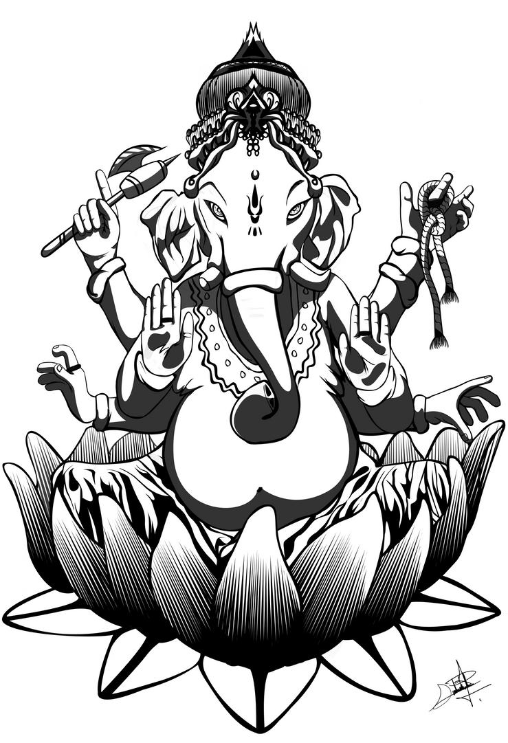 Line Art Of Lord Ganesha : Lord ganesha by darkbagi on deviantart