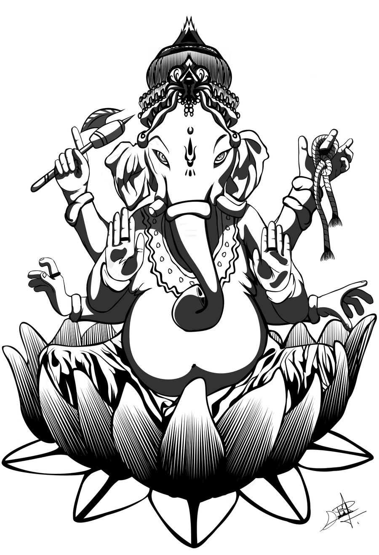 Lord Ganesha by darkbagi