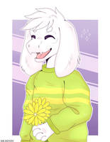 Happy Asriel by MrRendy